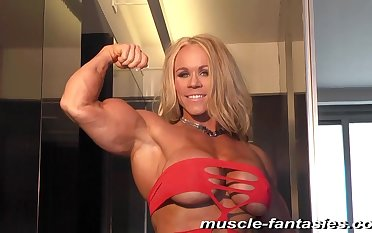 Gilded Hair Lady Fitness MILF - muscle little one solo