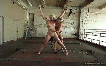 Strap-on botheration fucking for X-rated Audrey Leigh and Dylan Ryan