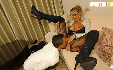 AMATEUREURO - Super Hot Mature Stepmom Seduces increased by Fucks Young Guy