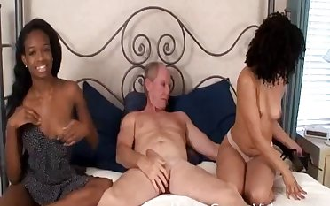 Interracial threesome on the herbaceous border with two moonless darlings and a white learn of