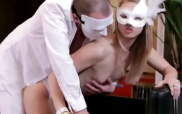 Orgy in decadent white