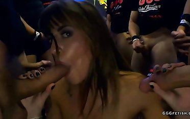 Amazing anal all round cums on shaved silvia dellai