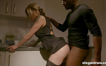 Pale nympho with nice ass Klarissa is properly analfucked by black stud