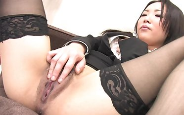 Uncensored Japanese solo masturbation with hot doll Ai Mizushima