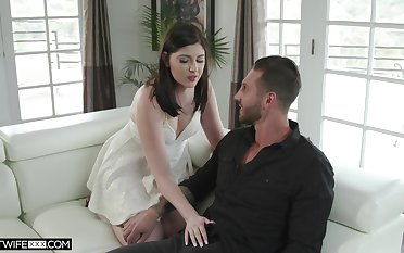 Nasty wife Miranda Miller is fucked by young lover move onward husband