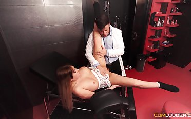 Dutiful darling gets fucked in a Master's well-appointed dungeon