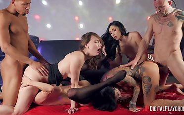 Mega bad group orgy be worthwhile for a bunch be worthwhile for hot women