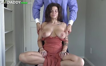 Great looking girl with big tits is dovetail have sex with her sugar- daddy