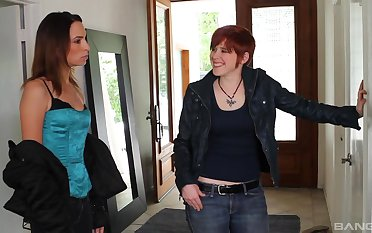 Amber Rayne invited depart from her lesbian friends of a threesome