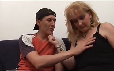 Milf Hairy Stepmom Helping Younger Guy To Become A Man