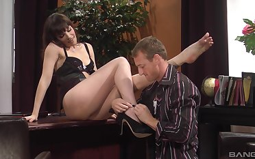 Gungy cumshot on ass be expeditious for provocative secretary Dana DeArmond