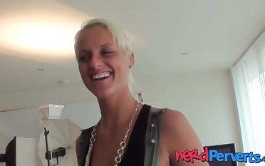 British blonde Paris Surprise is surprised with a trick BJ