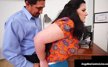 Hot Shutters Angelina Castro & Ebony Harmonie Marquis Milk Cock