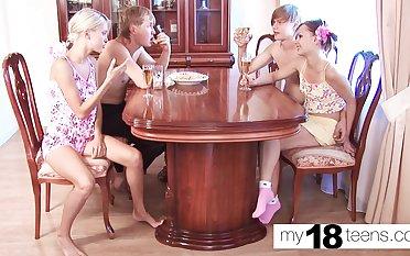 Academy girls shot an Orgy