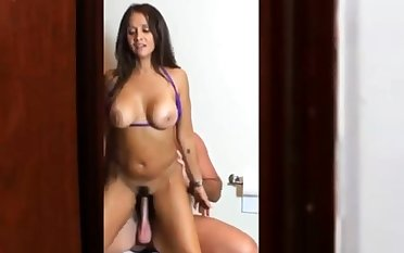 Busty Brunette Milf Takes Her Lovers Cock For A Wild Ride