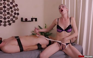 Mart whore plays rough with slay rub elbows with slave's big learn of