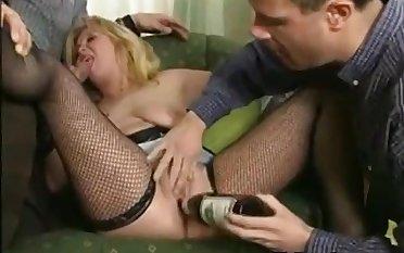 Dirty German Call-girl In A Gangbang