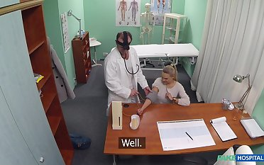 Young blonde Kristine's doctor does not follow treatment standards