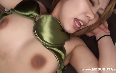 Asian babe with big nipples verge on sex