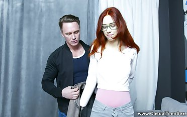 Redhead amateur Lagoon Blaze gets her pussy fucked by her man