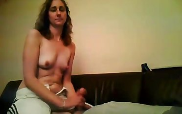 The only workout her hands need is stroking my dick with her hands
