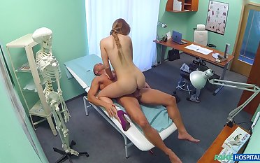 Sex at the hospital with the slutty ass female doc