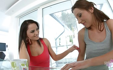 Girl on girl sex action between Aida Sweet and Julie Skyhigh