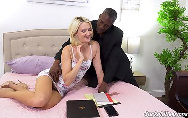 Zoe Sparx absolutely loves interracial sex and she loves MMF threesomes