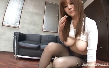 Homemade mistiness of hot ass Ramu Hoshino teasing her husband