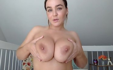 Natasha Nice unleashes her big tits on webcam - POV solo