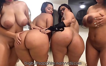 Two curvy broad in the beam ass Latina mom on webcam - brunettes with being tits