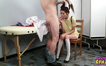 Kinky girl Shi Official takes a dick in her mouth added to loves it